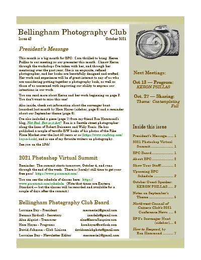 BPC Newsletter October, 2021 Thumbnail