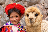 Girl with Alpaca, Peru